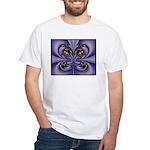 Purple Butterfly White T-Shirt