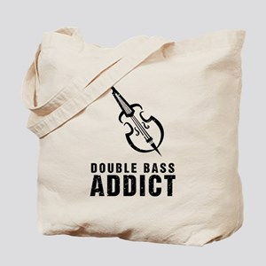 Double Bass Addict Tote Bag