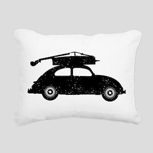 Double Bass On Car Rectangular Canvas Pillow