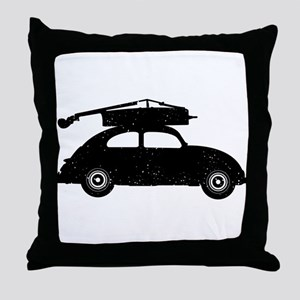 Double Bass On Car Throw Pillow