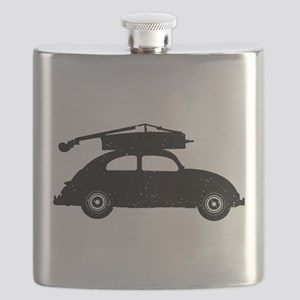 Double Bass On Car Flask