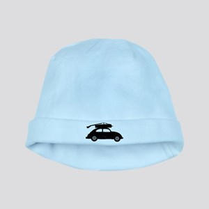 Double Bass On Car baby hat