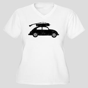 Double Bass On Car Women's Plus Size V-Neck T-Shir