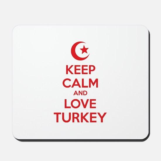 Keep calm and love turkey Mousepad