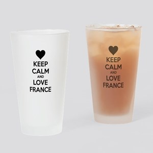 Keep calm and love France Drinking Glass