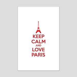 Keep calm and love Paris Mini Poster Print