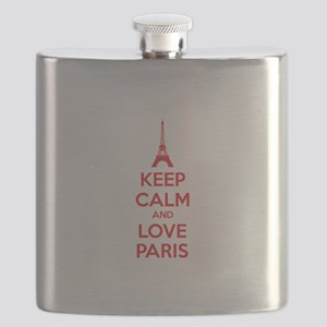 Keep calm and love Paris Flask