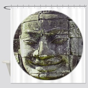 Bayon Buddha Shower Curtain