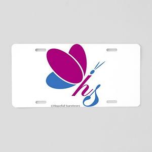 Hopeful Survivors Butterfly Aluminum License Plate