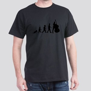 Double Bassist Evolution Dark T-Shirt