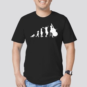 Double Bassist Evolution Men's Fitted T-Shirt (dar