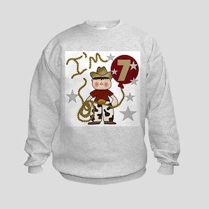 Cowboy 7th Birthday Kids Sweatshirt