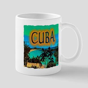 cuba beach art illustration Mug