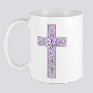 Purple Easter Cross Mug