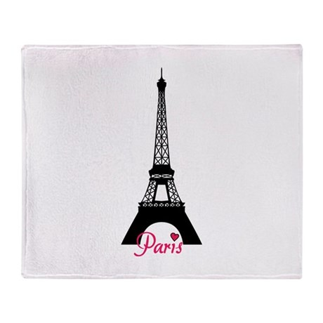J'adore la France Throw Blanket
