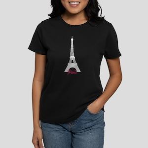 Paris Women's Dark T-Shirt