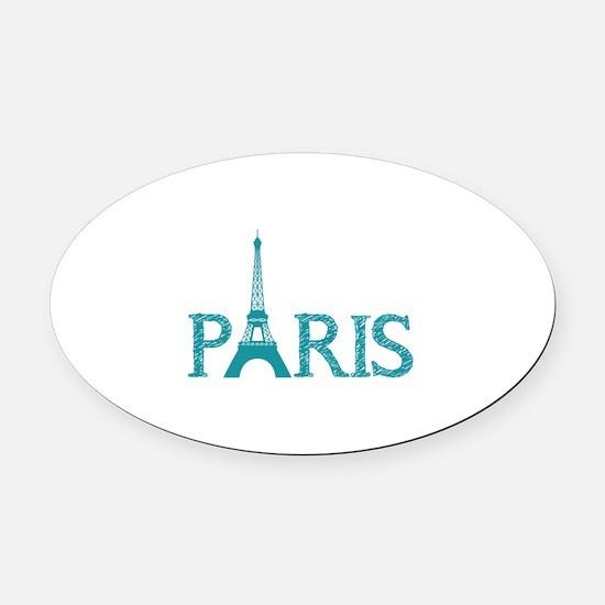 Paris Oval Car Magnet