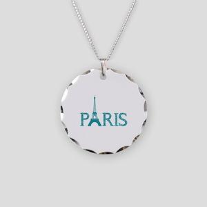 Paris Necklace Circle Charm