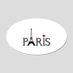 Paris 22x14 Oval Wall Peel
