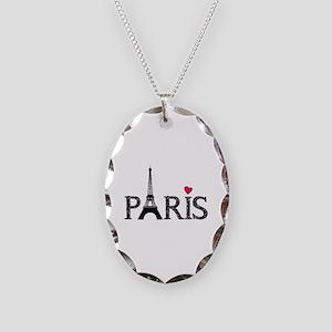 Paris Necklace Oval Charm