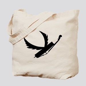 Flying Double Bass Tote Bag