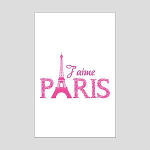 J'aime Paris Mini Poster Print
