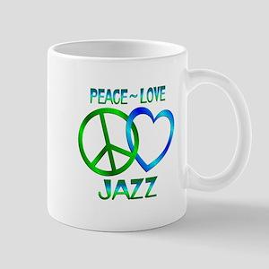 Peace Love Jazz Mug
