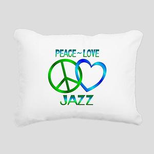 Peace Love Jazz Rectangular Canvas Pillow
