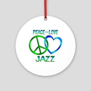 Peace Love Jazz Ornament (Round)