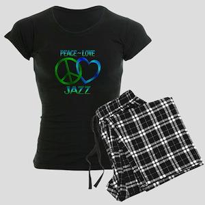 Peace Love Jazz Women's Dark Pajamas