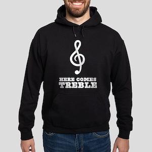 Here Comes Treble Hoodie (dark)
