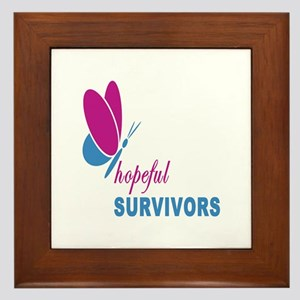Hopeful Survivors Butterfly With Writing Framed Ti