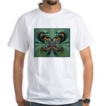 Aqua Butterfly White T-Shirt