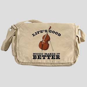 Music Makes Life Better Messenger Bag