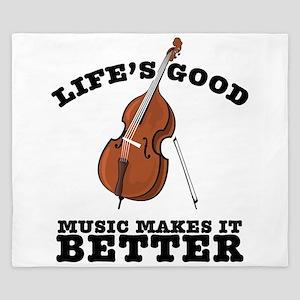 Music Makes Life Better King Duvet