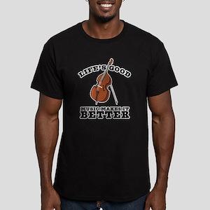 Music Makes Life Better Men's Fitted T-Shirt (dark