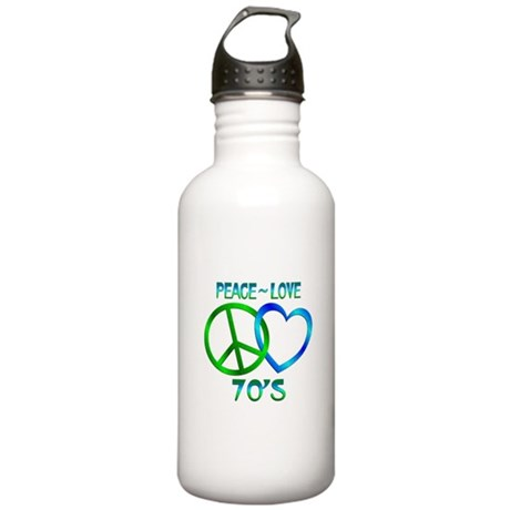 Peace Love 70's Stainless Water Bottle 1.0L
