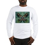 Aqua Butterfly Long Sleeve T-Shirt
