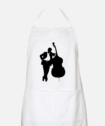 Man With Double Bass Apron