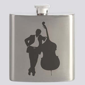 Man With Double Bass Flask