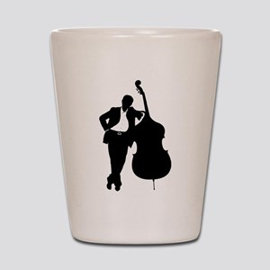 Man With Double Bass Shot Glass