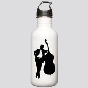 Man With Double Bass Stainless Water Bottle 1.0L