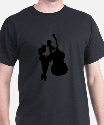 Man With Double Bass T-Shirt