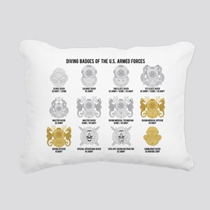 Diver Badges of the US Rectangular Canvas Pillow