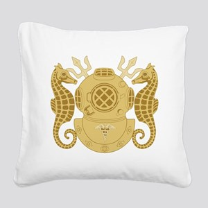 Navy Diving Medical Officer Square Canvas Pillow