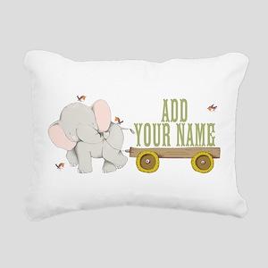 PERSONALIZED Cute Elephant Cart Rectangular Canvas
