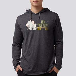 PERSONALIZED Cute Elephant Cart Mens Hooded Shirt