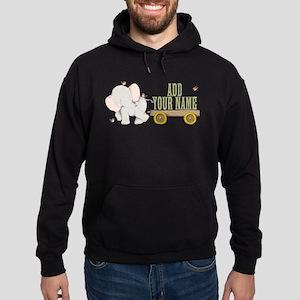PERSONALIZED Cute Elephant Cart Sweatshirt