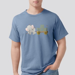 PERSONALIZED Cute Elephant Cart Mens Comfort Color