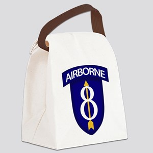 8th Infantry Airborne Canvas Lunch Bag